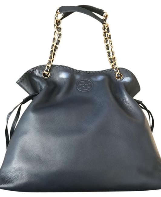 Item - Marion Slouchy Hudson Blue Leather Tote