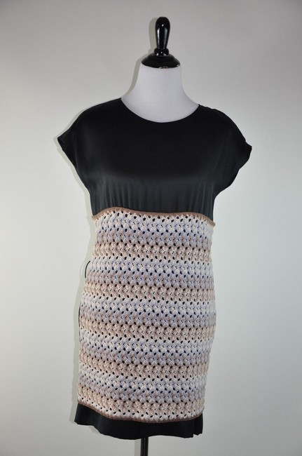 Preload https://item3.tradesy.com/images/missoni-multi-color-browns-silk-wool-crochet-black-blue-ivory-white-sheath-made-in-italy-mini-short--2210117-0-0.jpg?width=400&height=650