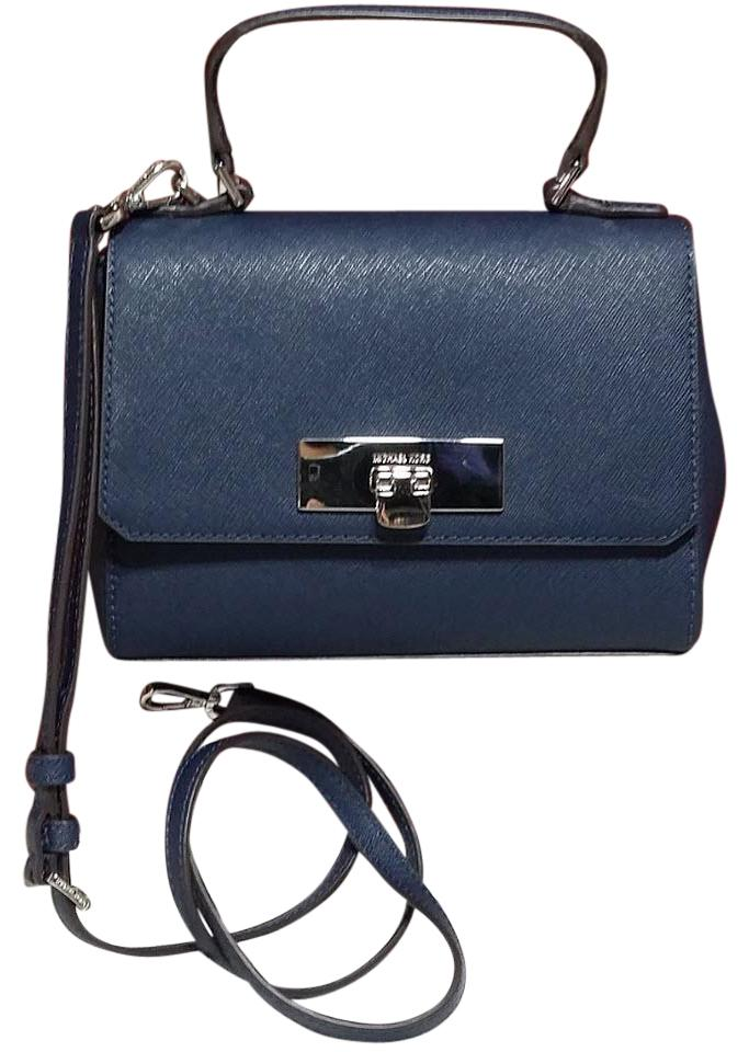 ea1fca0dd721 Michael Kors Callie X-small Crossbody Handbag. Michael Kors Callie X Small  Crossbody Navy Saffiano Leather ...