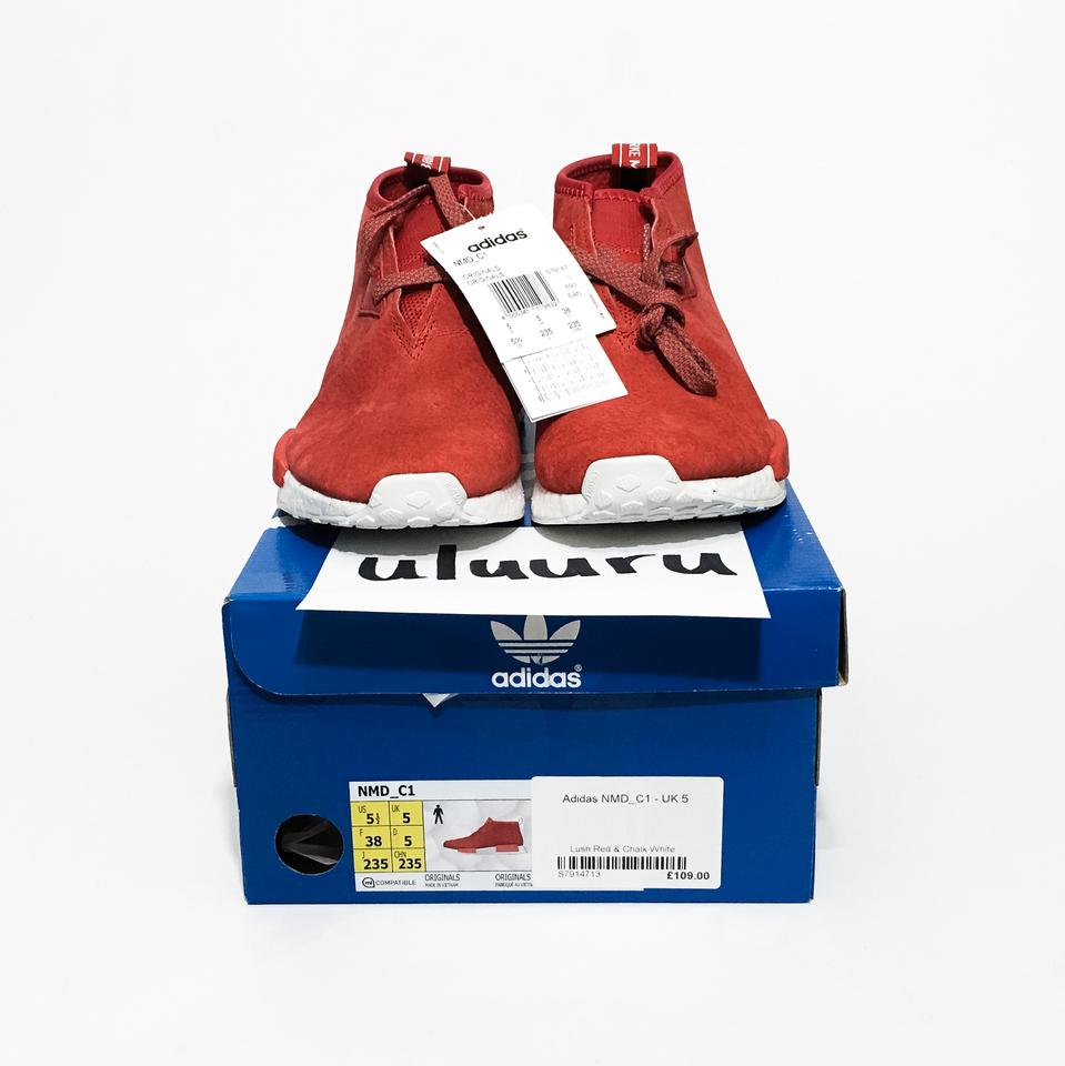 adidas Lush Red White Nmd Chukka Styled R1 Sneakers Size US 5.5 Regular (M, B)