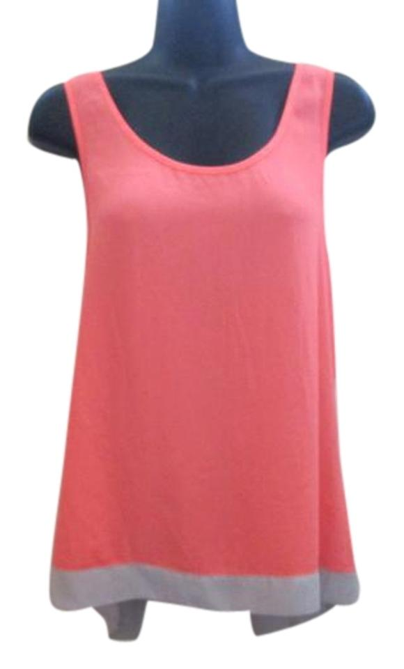 e3a5813a2998b Express Neon Coral Open Back Spring Summer Top Pink Image 0 ...