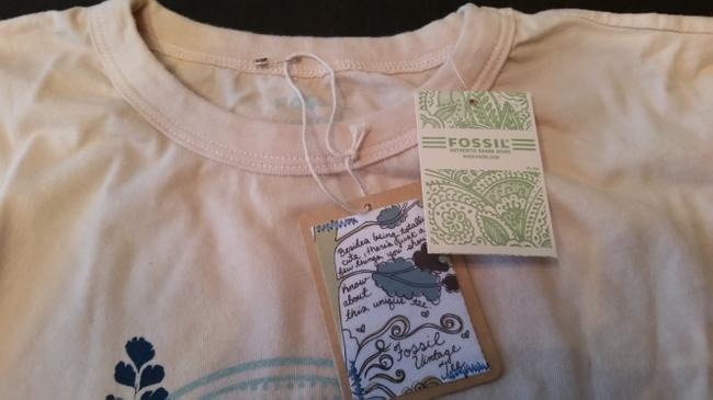 Fossil Bird T Shirt Cream