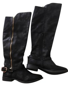 Target Knee-high Faux Suede Black Boots