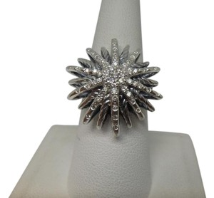 David Yurman large Starburst Ring with Diamonds size 8