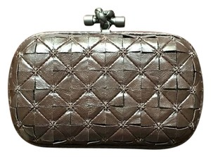 Bottega Veneta Leather Python Classic brown Clutch