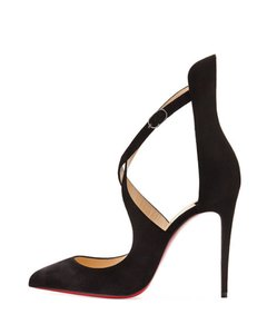 Christian Louboutin Marlenarock Stiletto Crisscross Strap Ankle Strap Strappy black Pumps