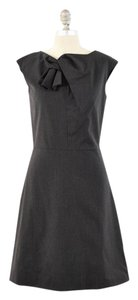 La Via 18 Pinstriped Stretch Wool Suiting Cap Sleeve Dress
