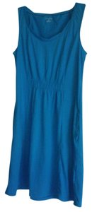 Lands' End short dress Blue Cotton on Tradesy