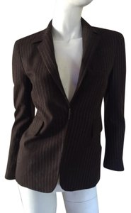 Elie Tahari brown and cream Blazer
