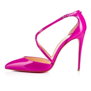 Christian Louboutin Cross Blake Crisscross Strap Strappy Pigalle pink Pumps