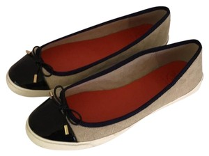 Tory Burch Khaki with navy toes and trim Flats