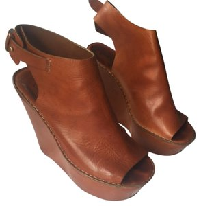 Chlo Chloe Platform Sandal brown Wedges