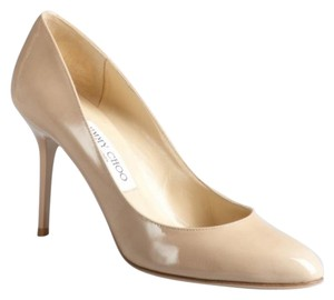 Jimmy Choo Pigalle Simple Nude Beige Pumps
