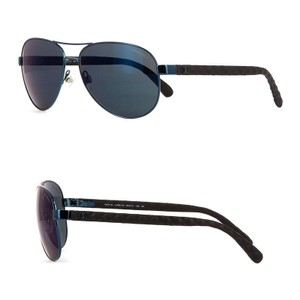 fd2ec7d4281e0 Chanel NEW 4204Q Iridescent Turquoise Leather Quilted Aviators Mirrored