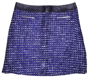 NAF NAF Mini Skirt Blue White Plaid