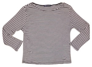 Brandy Melville Top Black White Striped