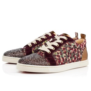 Christian Louboutin Gondolastrass Crystal Sneaker Flat Trainer brown Athletic