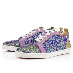 Christian Louboutin Gondolastrass Crystal Sneaker Trainer Flat purple Athletic