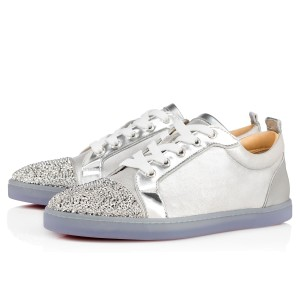 Christian Louboutin Gondolastrass Trainer Sneaker Flat Crystal silver Athletic