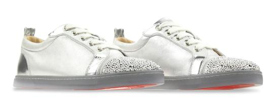Christian Louboutin Gondolastrass Trainer Sneaker Flat Crystal SIlver Athletic Image 1