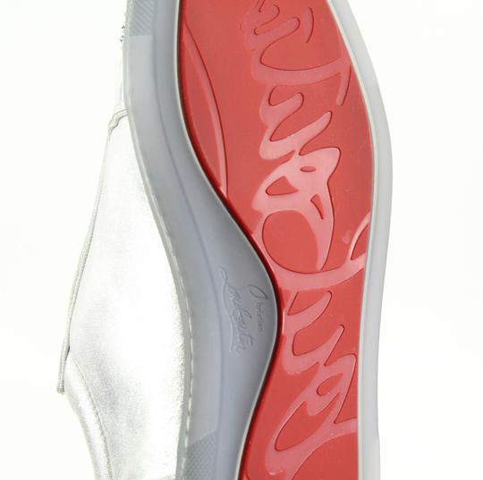Christian Louboutin Gondolastrass Trainer Sneaker Flat Crystal SIlver Athletic Image 10