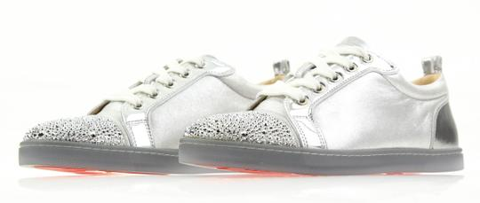 Christian Louboutin Gondolastrass Trainer Sneaker Flat Crystal SIlver Athletic Image 3