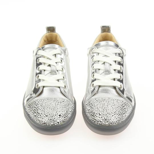 Christian Louboutin Gondolastrass Trainer Sneaker Flat Crystal SIlver Athletic Image 4