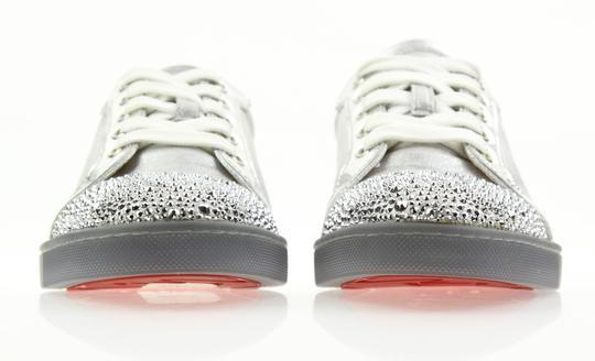 Christian Louboutin Gondolastrass Trainer Sneaker Flat Crystal SIlver Athletic Image 5