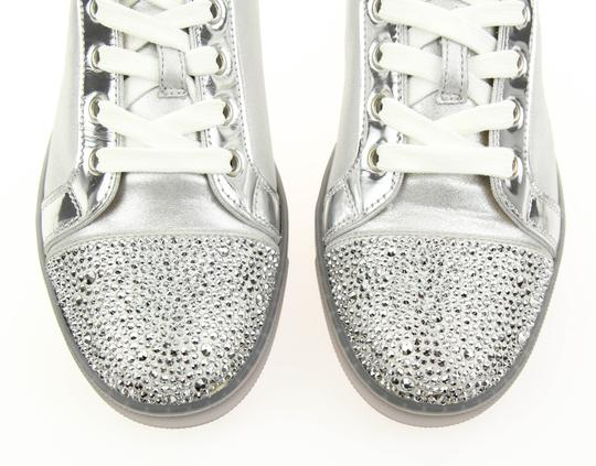 Christian Louboutin Gondolastrass Trainer Sneaker Flat Crystal SIlver Athletic Image 6