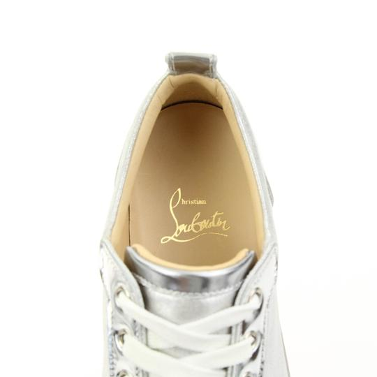 Christian Louboutin Gondolastrass Trainer Sneaker Flat Crystal SIlver Athletic Image 7