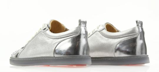 Christian Louboutin Gondolastrass Trainer Sneaker Flat Crystal SIlver Athletic Image 8