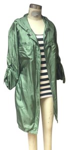 New York & Company Ny & Co Greens Ilk Silk Silk Parka Satin Military Jacket