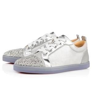 Christian Louboutin Gondolastrass Sneaker Trainer Flat Crystal silver Athletic