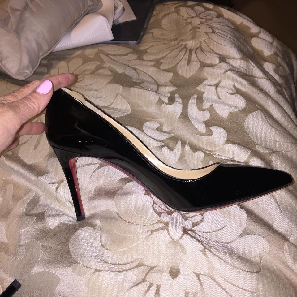 Patent Louboutin Pigalle Christian Leather Pumps Black E7qxwg