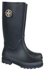 Tory Burch navy, gold Boots