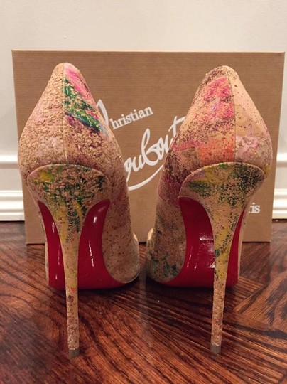 Christian Louboutin Sokate Kate Stiletto Pigalle Cork nude Pumps Image 10