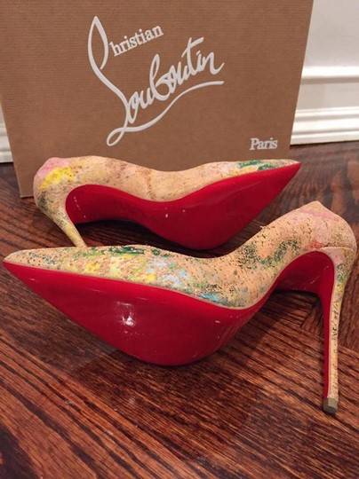Christian Louboutin Sokate Kate Stiletto Pigalle Cork nude Pumps Image 11