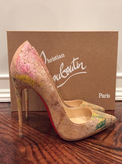 Christian Louboutin Sokate Kate Stiletto Pigalle Cork nude Pumps Image 2