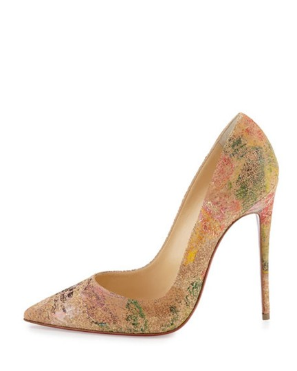 Christian Louboutin Sokate Kate Stiletto Pigalle Cork nude Pumps Image 3