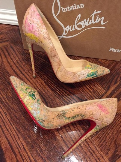 Christian Louboutin Sokate Kate Stiletto Pigalle Cork nude Pumps Image 4