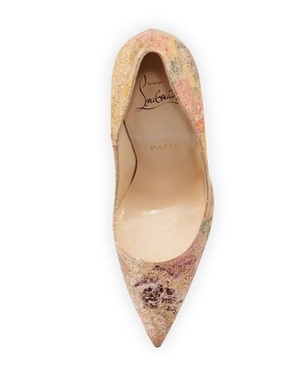 Christian Louboutin Sokate Kate Stiletto Pigalle Cork nude Pumps Image 6