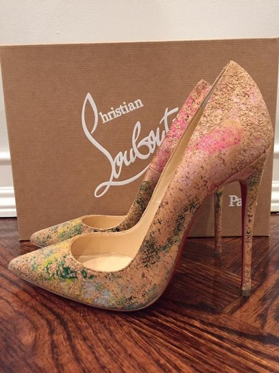Christian Louboutin Sokate Kate Stiletto Pigalle Cork nude Pumps Image 9