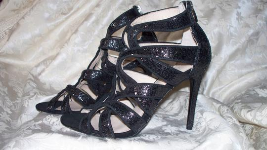 Coach Ludlow Strappy Dance Cruise Black Glitter Sandals