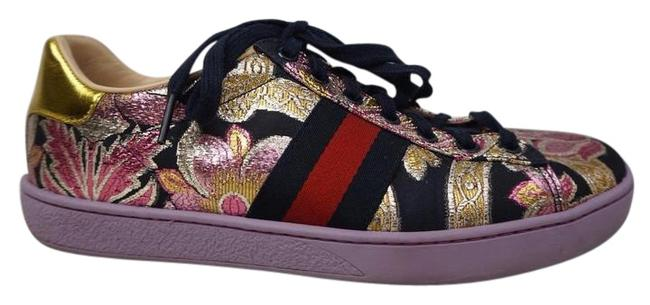 Item - Purple New Ace Floral Embroidered Leather Low Top Women's Sneakers Size EU 39 (Approx. US 9) Regular (M, B)