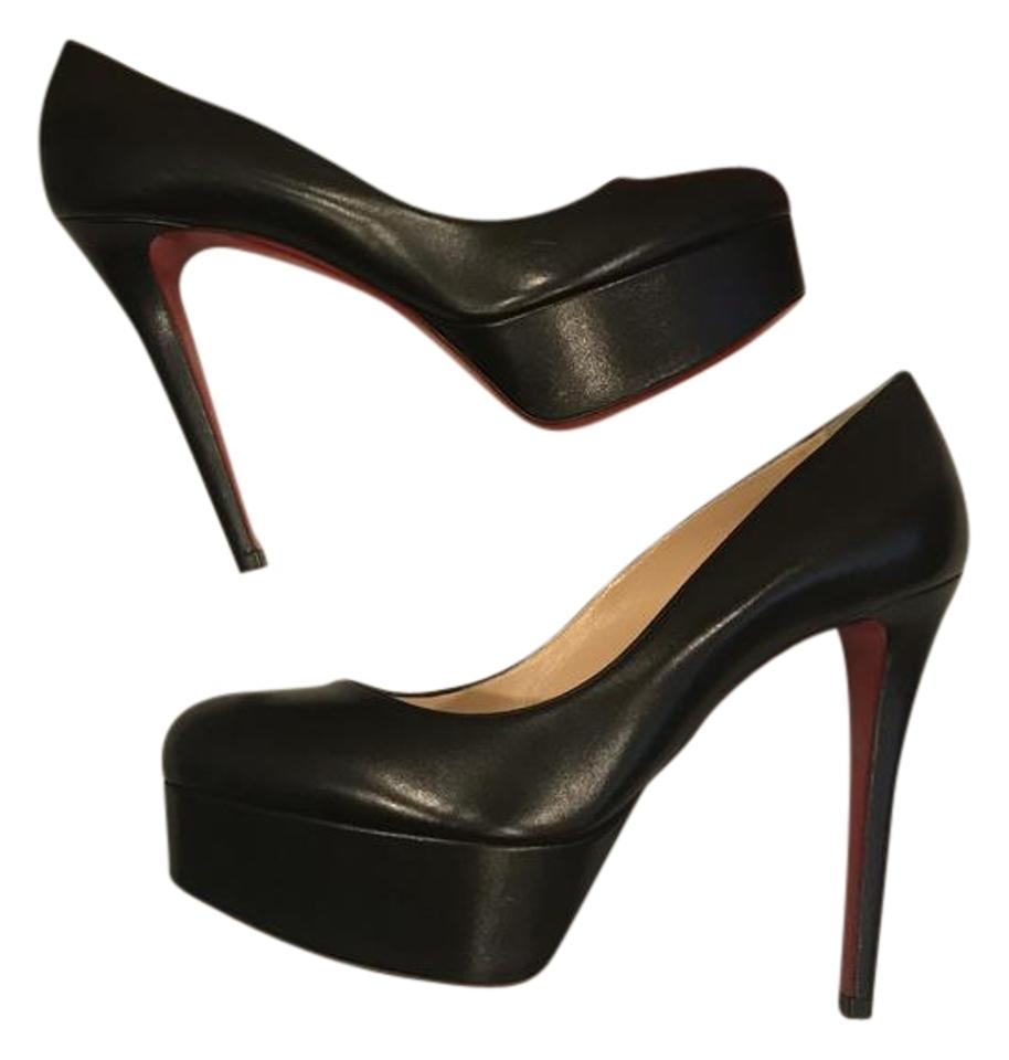 6d2a73d2d44 Christian Louboutin Black Bianca 120 Leather Platform Heels Pumps Size EU  39 (Approx. US 9) Regular (M, B) 15% off retail