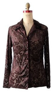 Tessuto Menswear Dark Floral Top Brown