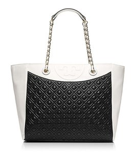Tory Burch Tote in Black/New Ivory