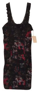 Free People short dress Black floral on Tradesy