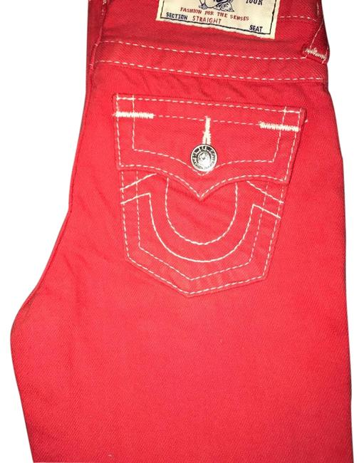 Item - Red Straight Leg Jeans Size 28 (4, S)