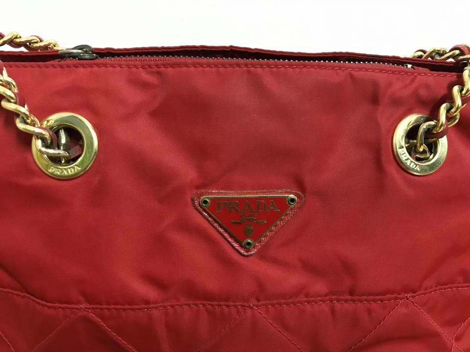 Prada Tessuto Impunturato Rosso with Dust Cover and Card Red Nylon Shoulder  Bag - Tradesy d517d70384b9b